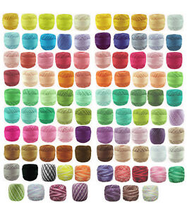 30-x-40m-Circulo-RUBI-Perle-8-Crochet-Cotton-Embroidery-Thread-message-me-Codes