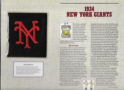 Sport 1934 New York Giants Willabee & Ward U.s Cooperstown Sammlung Entlastung Von Hitze Und Sonnenstich