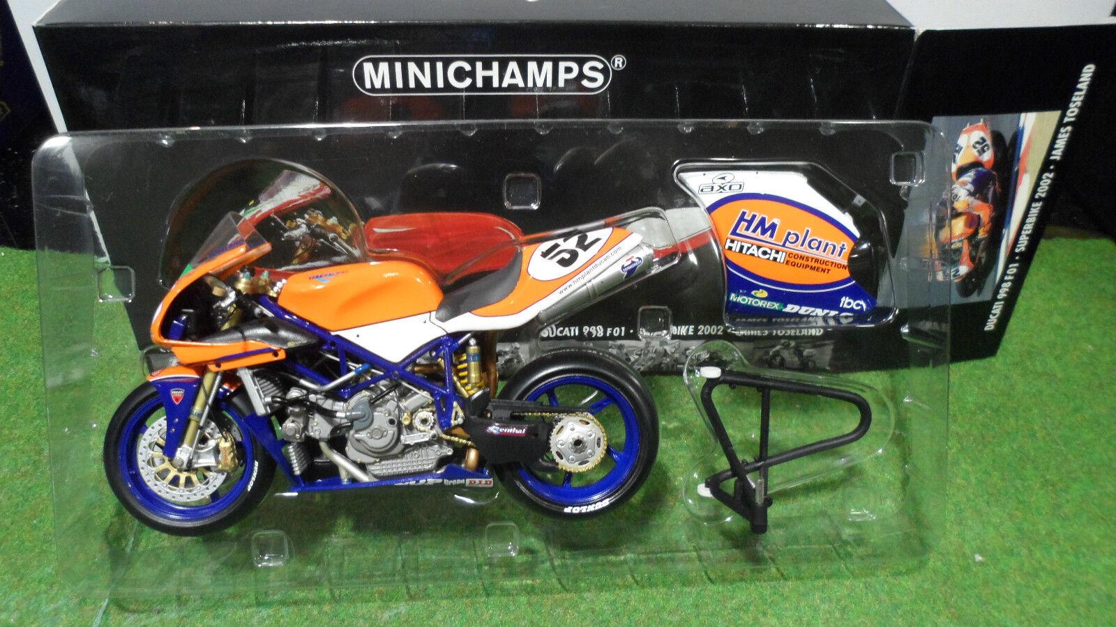 servicio de primera clase MOTO DUCATI 998 F01 WSB 2002 súperBIKE 1 12 12 12 Minichamps 122021252 miniature coll.  centro comercial de moda