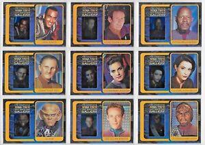 Star-Trek-Deep-Space-Nine-Complete-Gallery-Chase-Card-Set-G1-10-SET-OF-10-CARDS