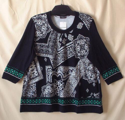 Allover T New Gerry Shirt Weber Samoon 4 manica Camicia 48 elasticizzata girocollo Print 3 Gr fptqT1wx