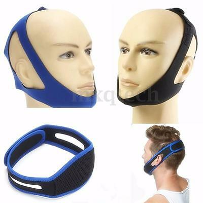 Anti Snore Stop Snoring Sleep Apnea Strap Belt Jaw Solution Chin TMJ Support Aid