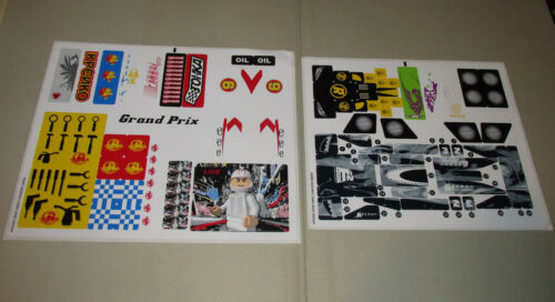 New Lego Speed Racer Original Unused Sticker Sheets from Grand Prix Race 8161