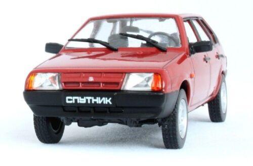 VAZ 2109 Lada Samara Sputnik Russian Car AvtoVAZ Red 1:43 Scale Diecast Model