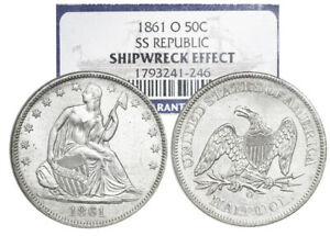 USA-New-Orleans-Mint-half-dollar-Seated-Liberty-1861-O-NGC-SS-Republic-Wreck