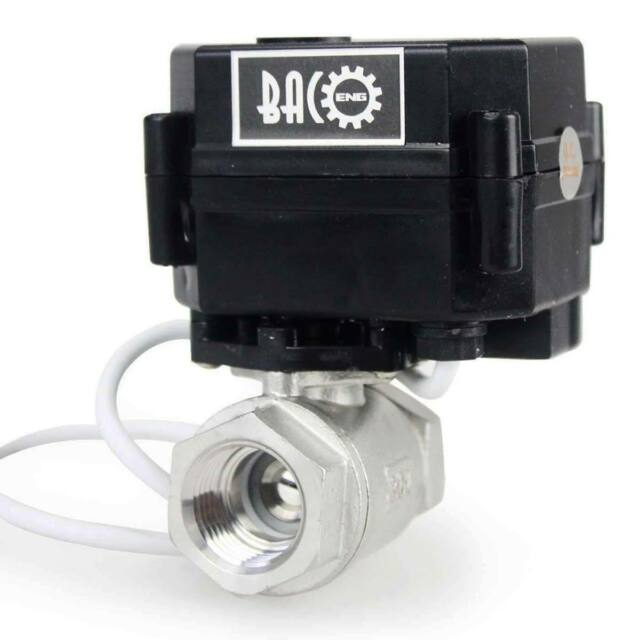 "1/2"" DN15 DC12V Motorized Ball Valve, 2 Way Stainless Steel 304 Electrical Valve"