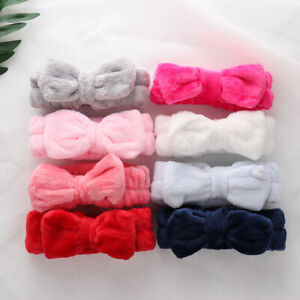 Girl Bow Knot Makeup Hair Band Headband Soft Head Wrap Towel Bath Spa Face