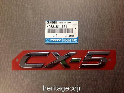 2013 - 2016 Mazda CX - 5 Lift Gate Emblem **OEM** ** NEW** ( KD53-51-721 )