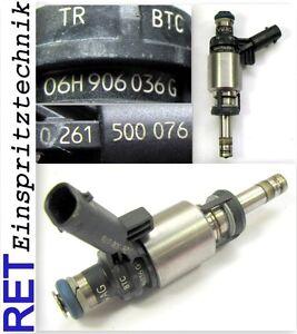 Einspritzduese-BOSCH-0261500076-Audi-A-4-2-0-TFSI-06H906036G-gereinigt-amp-geprueft