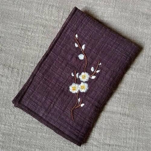 Details about  /Vintage Tea Towel Plum Embroidered Tea Cotton Double Absorbent Towel BL