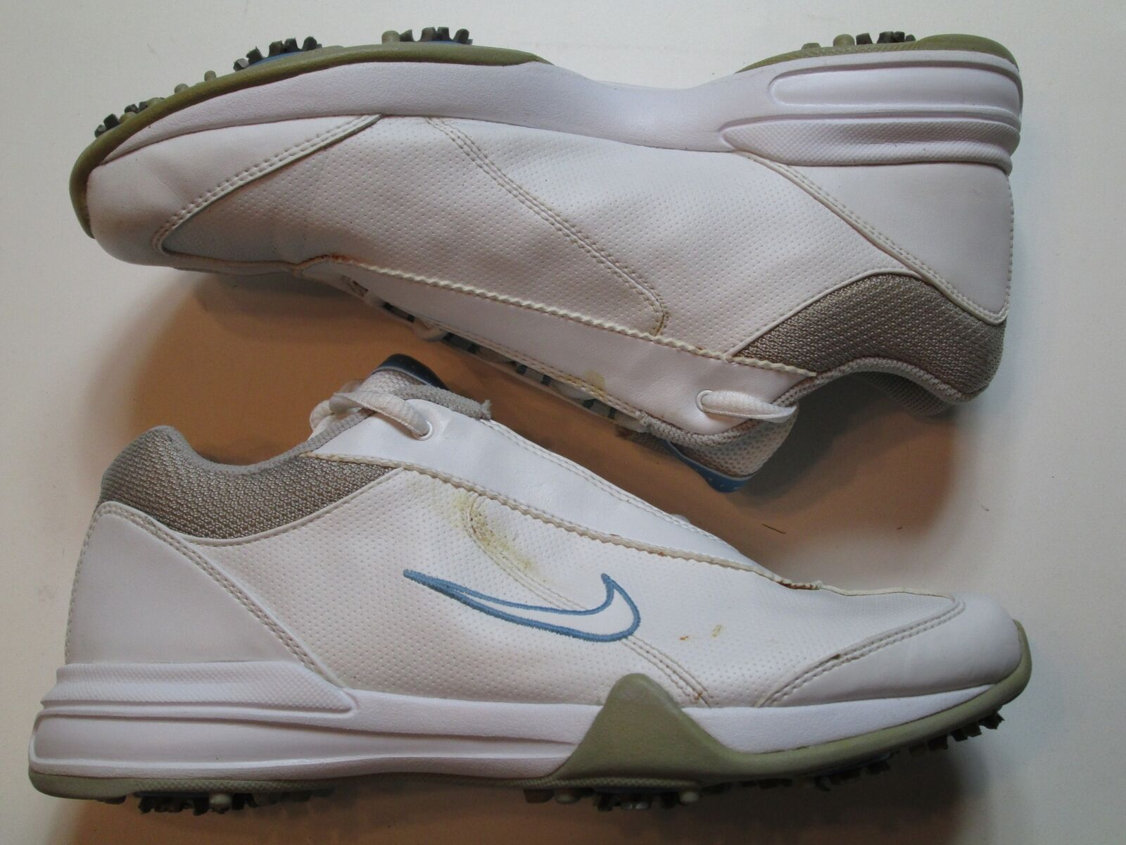 Wild casual shoes Nike Air Mens White Golf Shoe Cleats Comfortable