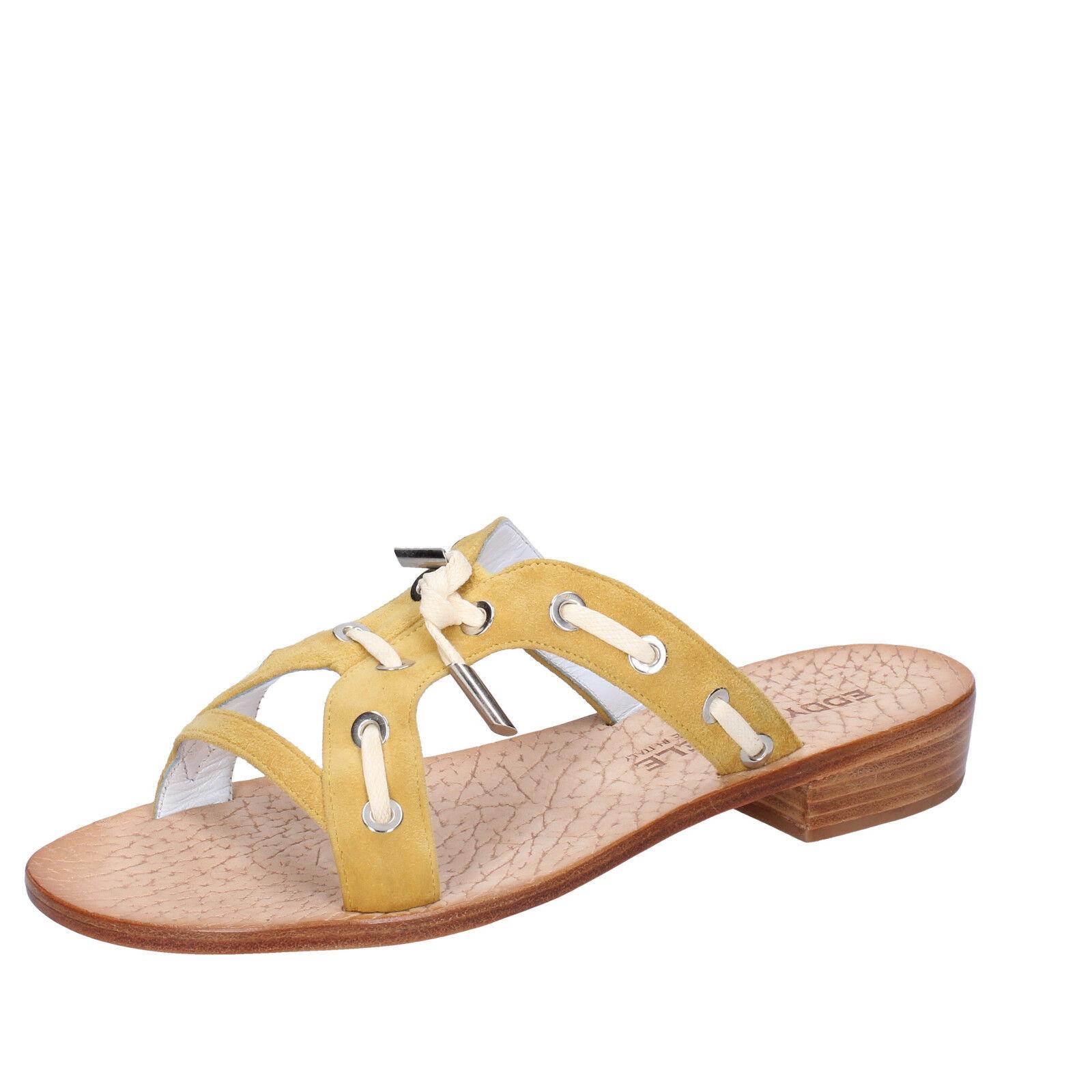 Chaussures Femmes Eddy Daniele 7 (UE 37) Sandales Jaune Daim AW334-37