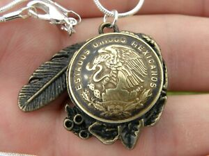 Cinco-Eagle-Centavos-coin-necklace-with-18-inch-chain-nice-gift-for-him-her