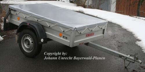 PROFI-Qualität BEIGE Bayerwald Anhängerplane bis 2,20 m Flachplane