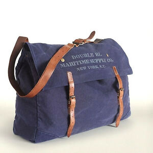 f6dce67db3 Image is loading POLO-RALPH-LAUREN-RRL-INDIGO-CANVAS-LEATHER-MESSENGER-