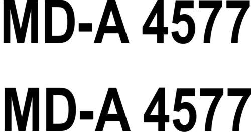 2x Schlauch Boots Aufkleber Bootskennzeichen Kennzeichen FOIL0022