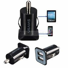 Schwarz Dual Port 3.1A USB Lade KFZ Adapter Ladegerät Für Apple iPhone iPad iPod