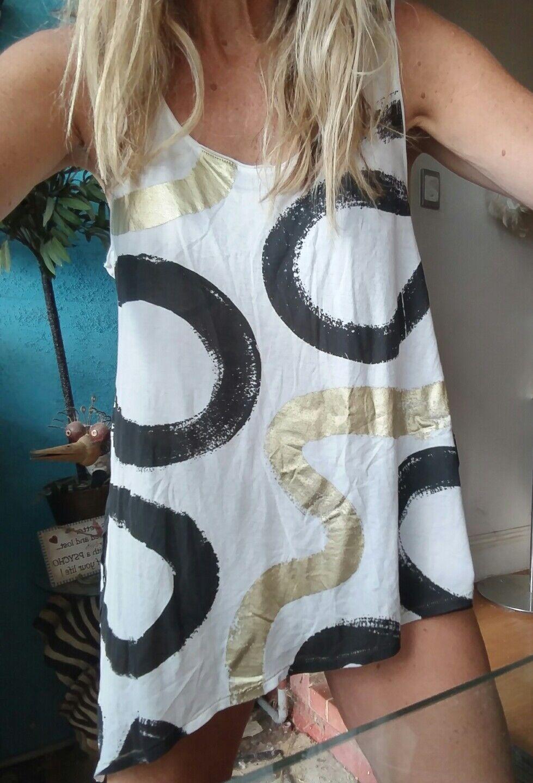 Sass & Bide  Take Care  Print Tank T-shirt Top Sz XXS