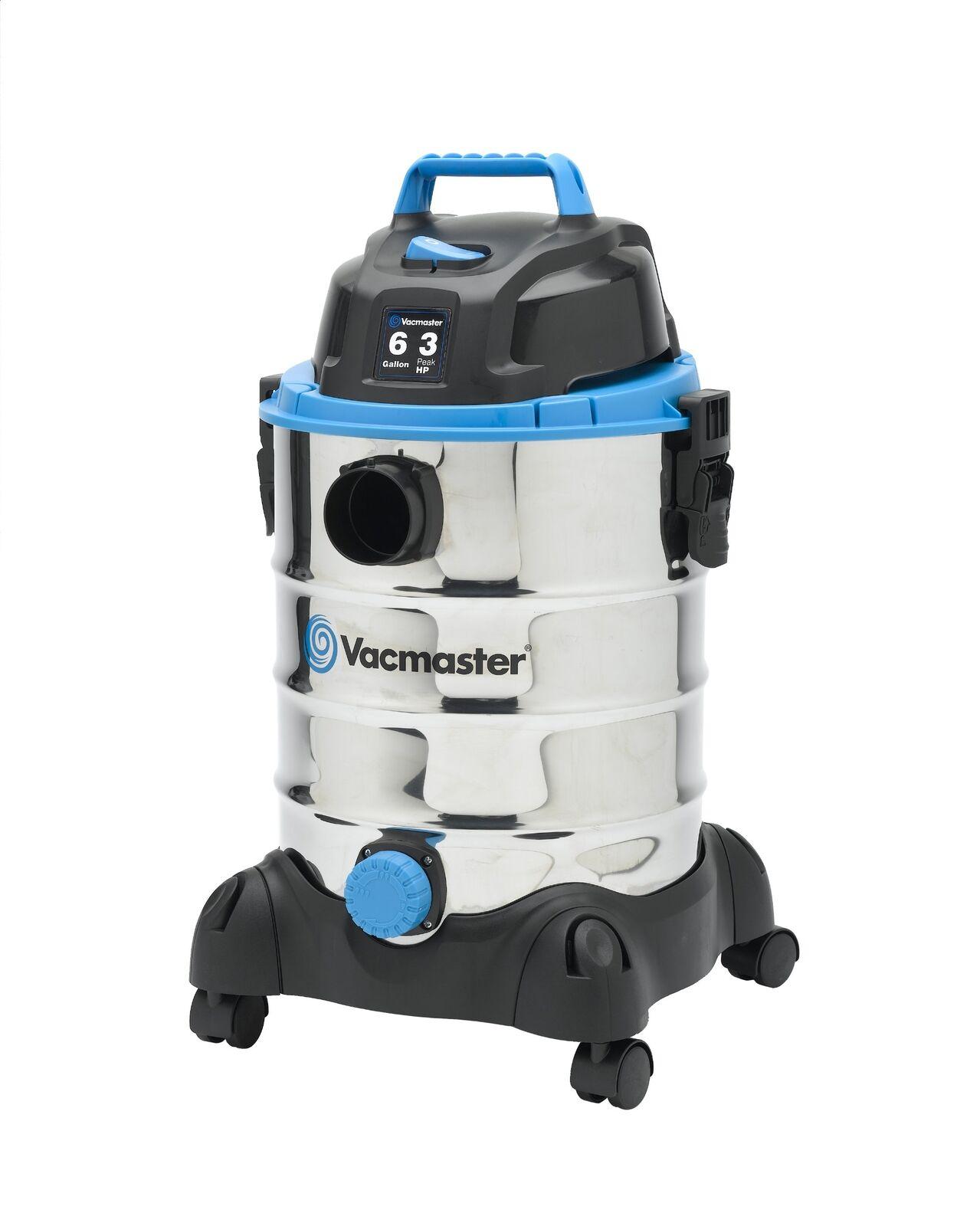 Vacmaster 6 Gallon 3 Peak HP Stainless Steel Wet Dry Vacuum VQ607SFD