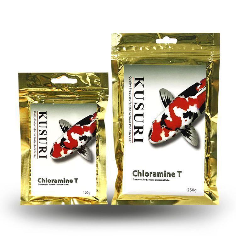 Kusuri Chloramin T 250g and 100g. Bakterien Krankheit Koi-Teich Fisch