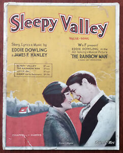 Sleepy Valley from the film The Rainbow Man  Vintage Sheet Music   Pub 1928 - todmorden, Lancashire, United Kingdom - Sleepy Valley from the film The Rainbow Man  Vintage Sheet Music   Pub 1928 - todmorden, Lancashire, United Kingdom