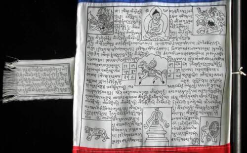 5 Fahnen Gebetsstandarte 4 m hoch Handarbeit aus Nepal