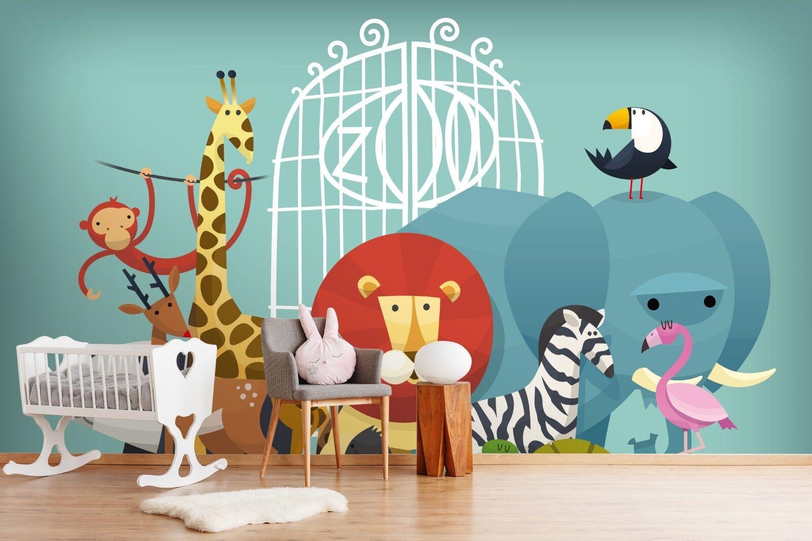 3D Animal Lion 7135 Wallpaper Mural Paper Wall Print Indoor Murals CA Summer