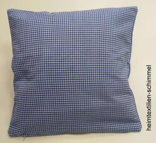 Dekokissen Kissen Kissenbezug Sofakissen Couchkissen BAYRISCH HERZ blau 40x40cm