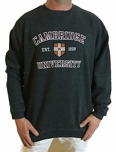 Official Cambridge University Sweatshirt - Charcoal Grey