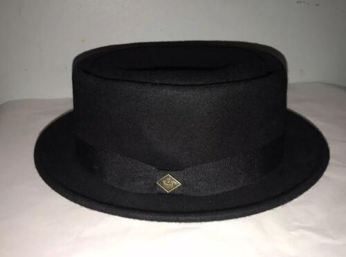 Goorin Bros Black Wool Felt Pork Pie Hat Fedora Wo