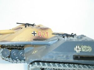 char allemand JAGDPANTHER SOLIDO militaire lot 2 mitrailleuses MG METAL NOIR