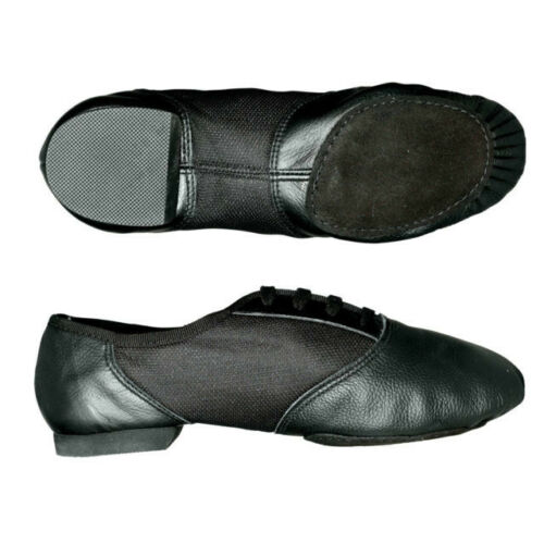 458 Capezio Jazz Shoes Black Leather Split Sole