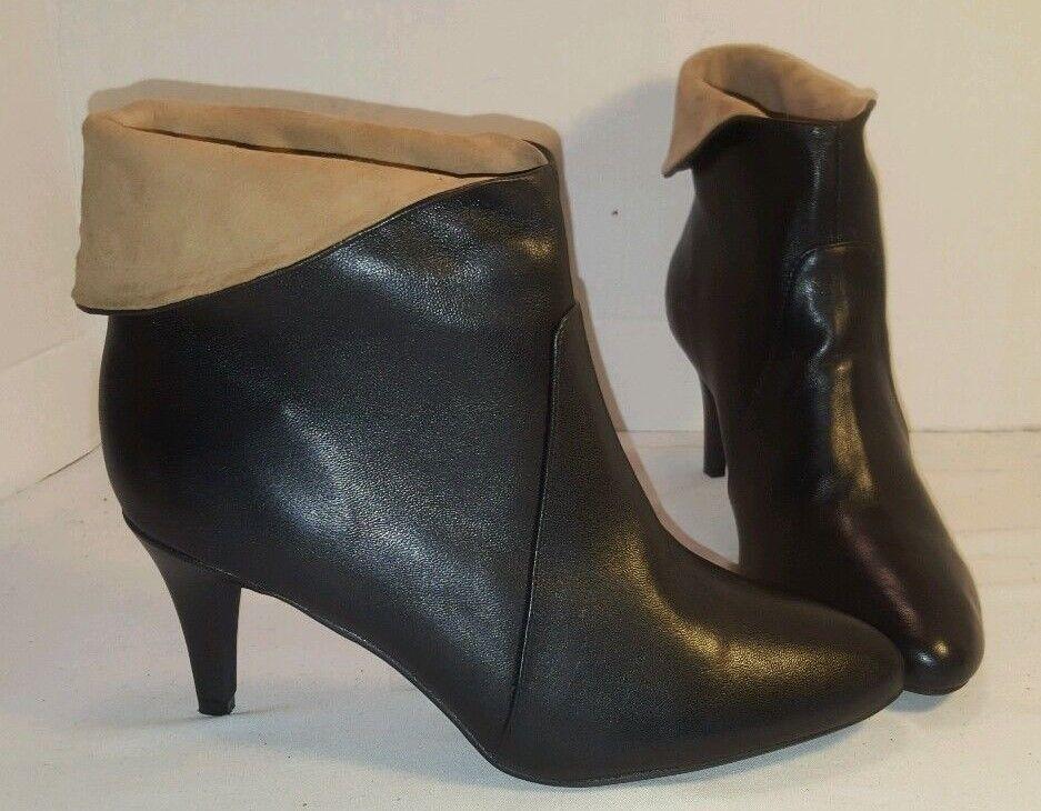 Nuevo Jeffrey Campbell De Cuero Negro botas al al al Tobillo Tacón azulbell Gatito Para mujeres EE. UU. 8  en stock