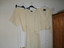 YELLOW COAST TROUSER SUIT  SIZE 12 TROUSERS UNWORN 10 JACKET FREE DRESS WEDDING