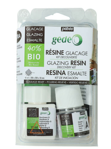 Pebeo Gedeo 40/% Bio Glazing Resin Discovery Set