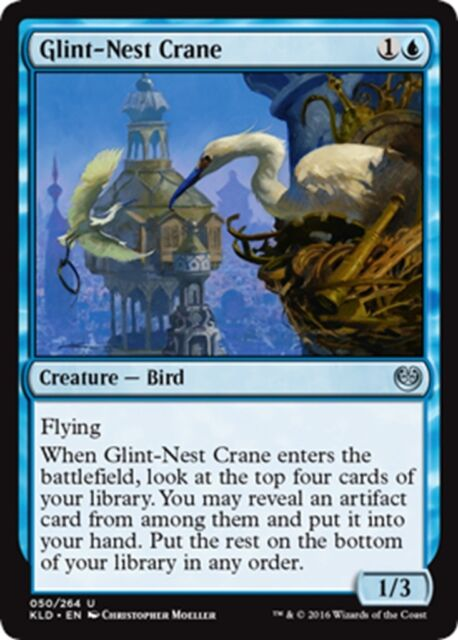 MTG Magic - (U) Kaladesh - 4x Glint-Nest Crane x4 - NM/M