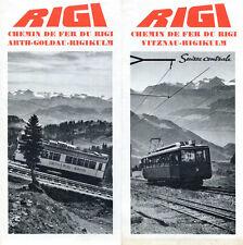 Prospectus-Tourisme : CHEMIN DE FER DU RIGI, Suisse. Travel Ephemera