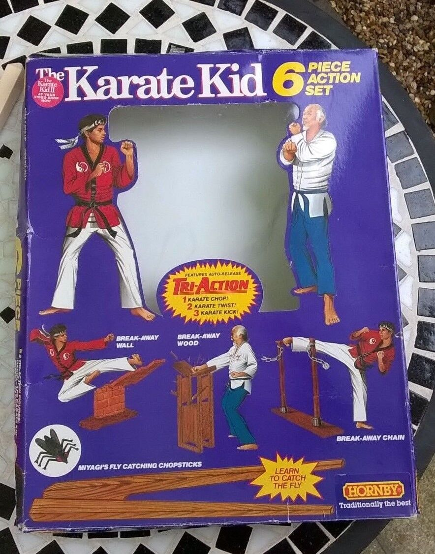 Rare Complete Karate Kid Remco Hornby  6 Piece Piece Piece Action Set Boxed 1986 Vintage 317647