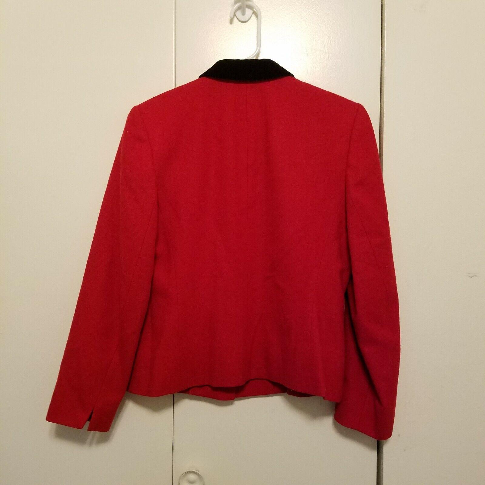 Vintage Pendleton Red Wool Velvet Collar Blazer  - image 2