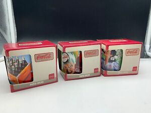 Coca-Cola-3x-Mini-Mug-Never-Used-With-Orig-Packaging-Top-Condition