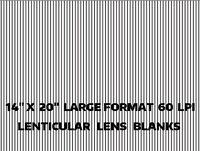 Lenticular Lens Blanks 3d Sheets Flip Action Motion 60 Lpi 3d 5 14x20 Sheets