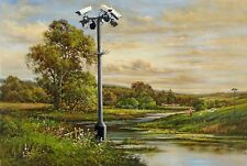 BANKSY ART POSTER PRINT A3 SIZE(CCTV)