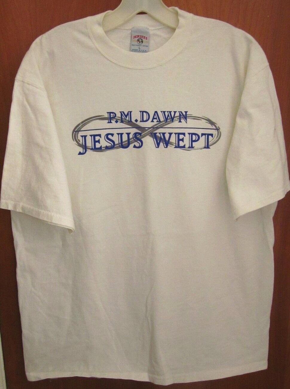 PM DAWN Jesus Wept lrg T shirt hip hop R&B Gee Street rap tee 1995 Prince Be