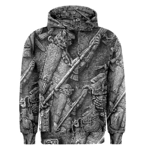 New Ancient Aztec Art Men/'s Pullover Hoodie S-3XL Free Shipping