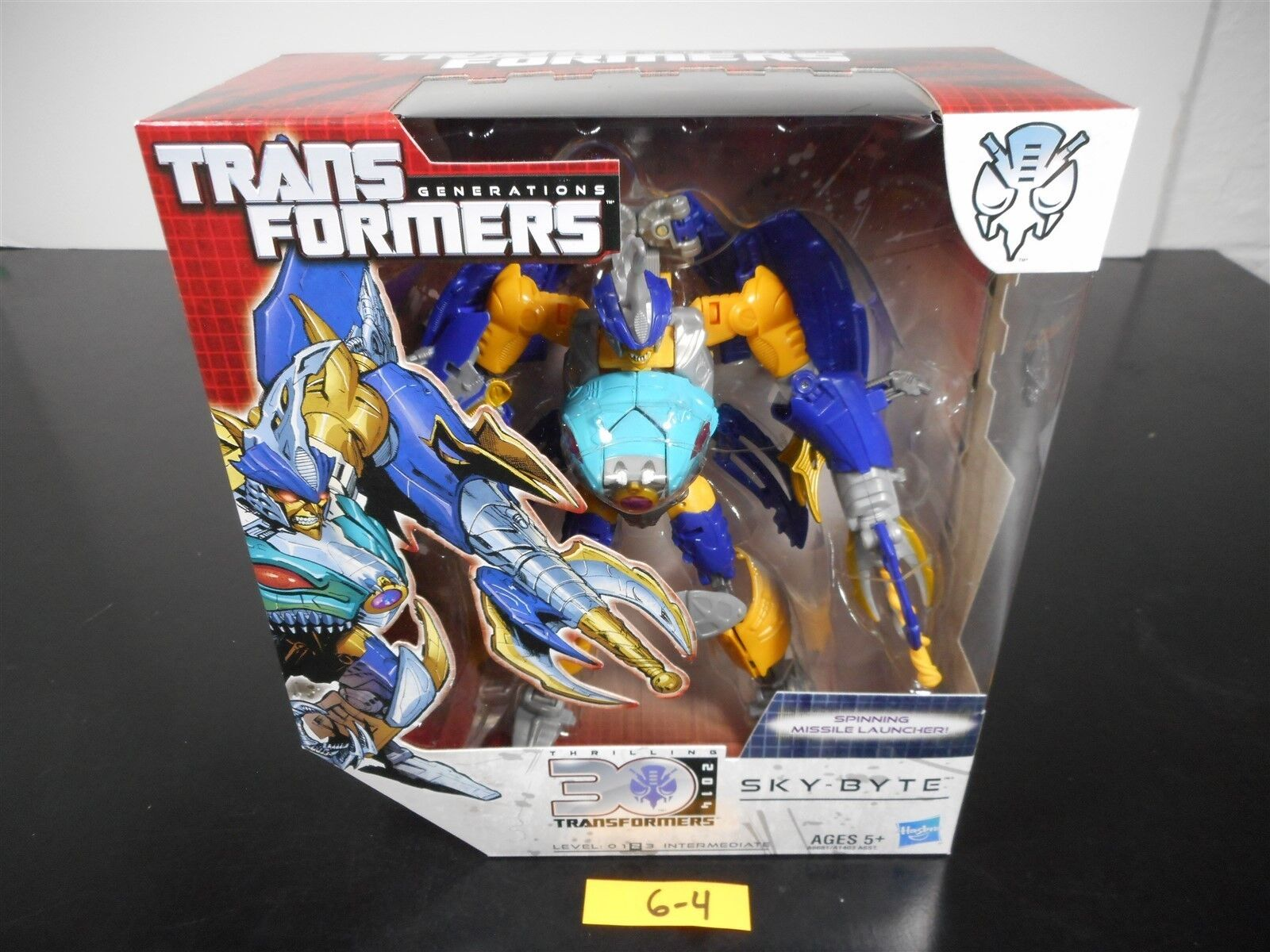 NEW & SEALED    TRANSFORMERS GENERATIONS SKY-BYTE ACTION FIGURE THRILLING 30 6-4
