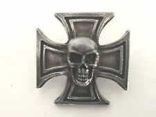 Eisernes Kreuz mit Totenkopf Pin Scull Biker MC Kutte Harley Chopper 81 Neu