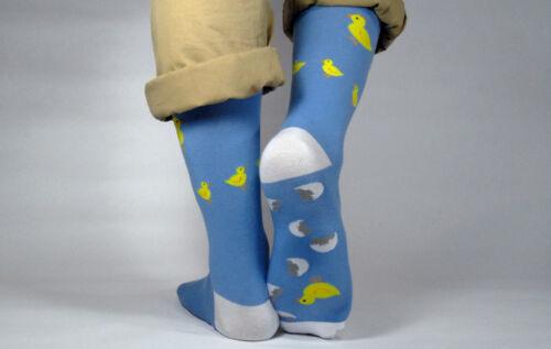 Walk On Eggshells Mens Cotton Socks Fun Design and Great Quality!