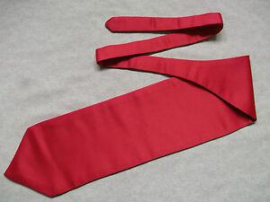 Ascot Foulard Homme Mariage Chouchou Ruché Taille Unique Pillar Box Red-afficher Le Titre D'origine