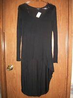 Ambiance Black Hi-lo Shirt Size Small
