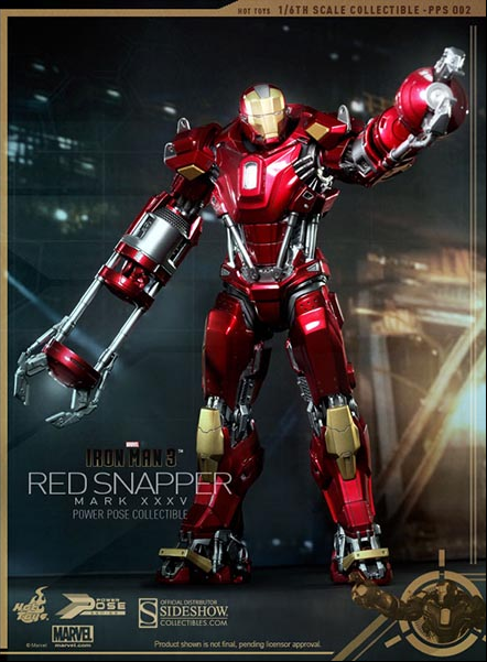 MARVEL HOT TOYS IRON MAN XXXV rosso SNAPPER 1:6 SCALE ACTION FIGURE HOTPPS002